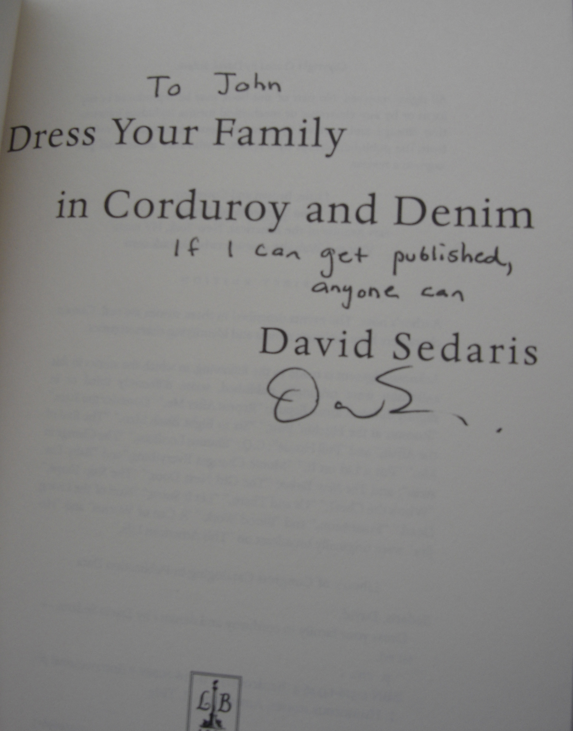david sedaris the drunken odyssey sedaris autograph