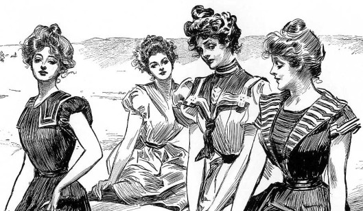 Gibson_Girls_seaside