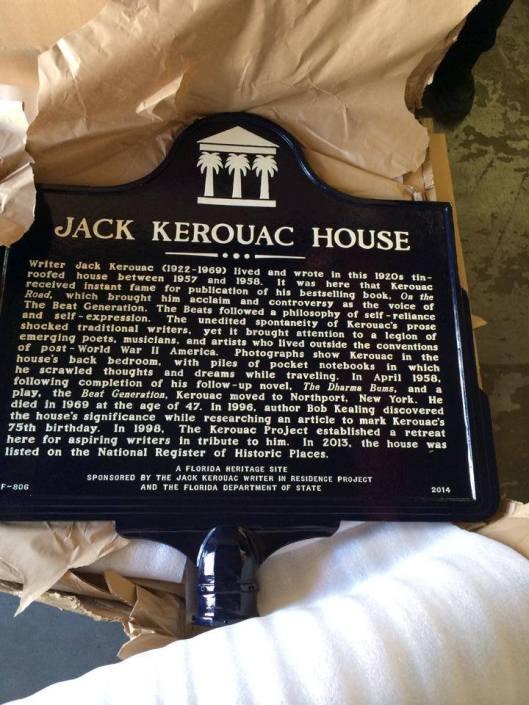 Kerouac House Marker