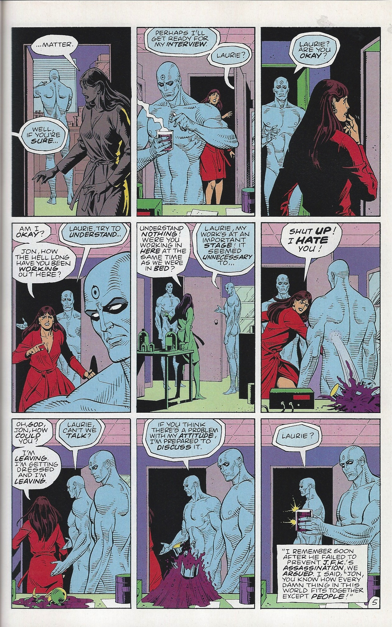 Is there sex in watchmen