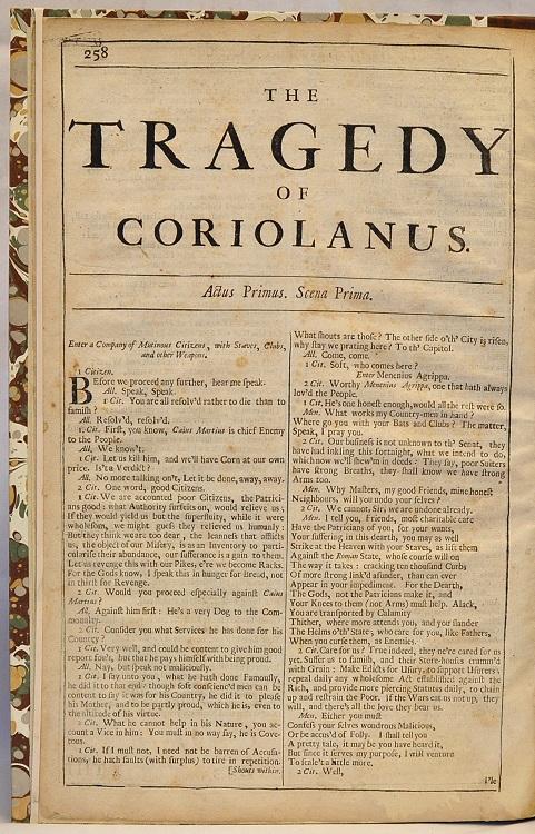 Coriolanus Folio