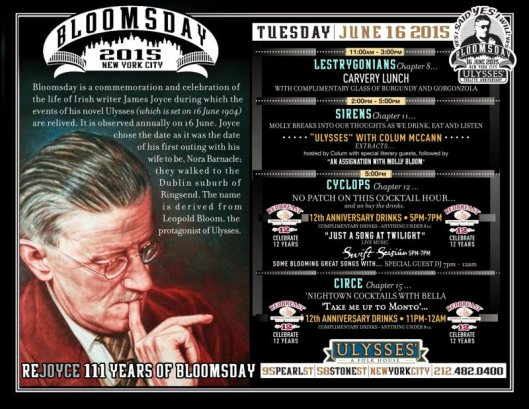 Bloomsday NYC