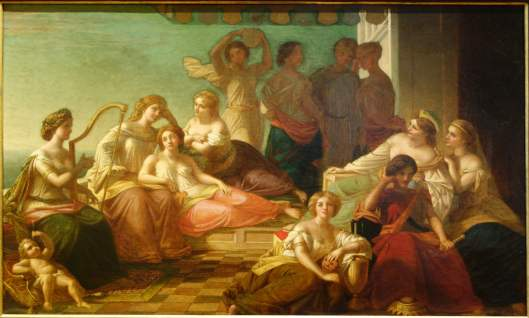 Muses & Graces by Thomas P Rossiter, 1859, oil on canvas