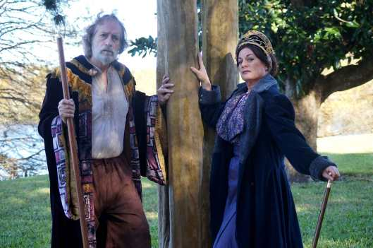 Greg Thornton (Prospero) and Lisa Wolpe (Antonia) star in Orlando Shakespeare Theater's production of William Shakespeare's The Tempest. (Photo by Luke Evans.)