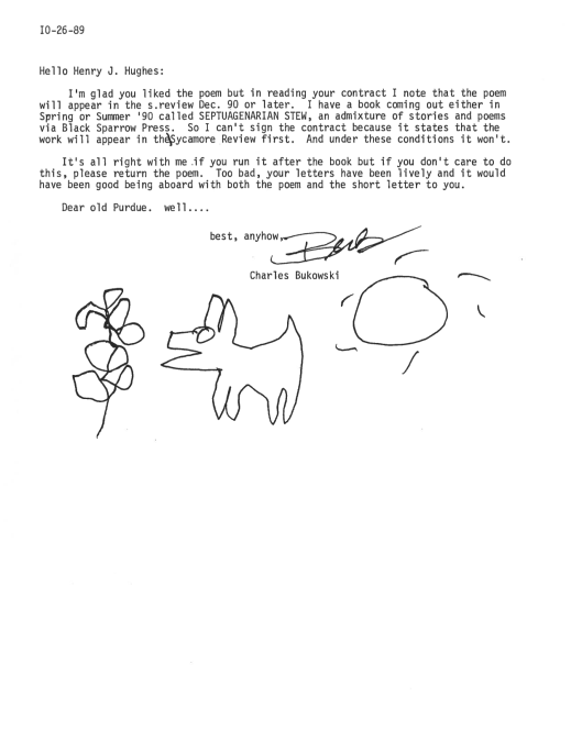 Bukowski Hughes letter 2