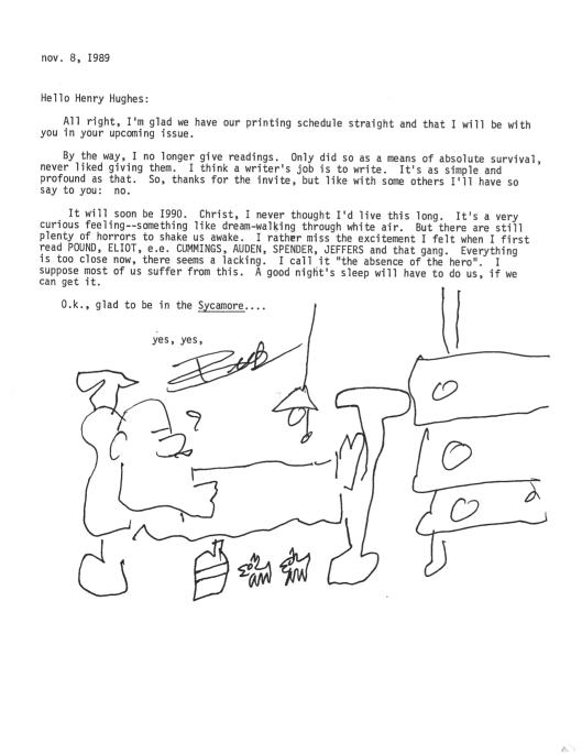 Bukowski Hughes letter 3