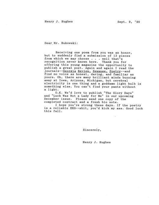 Bukowski Hughes letter 4