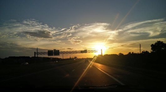 road-home-sunset