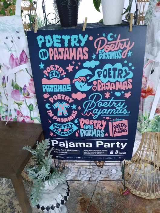 Poetry in Pajamas sign